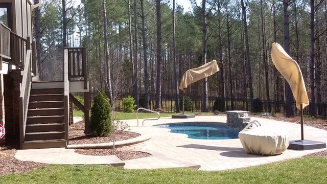 Residential Pool Decks in Wake Forest, Raleigh and Surrounding areas on NC. Pool Deck and Pool Patio Contractors, Capital City Curb & Gutter